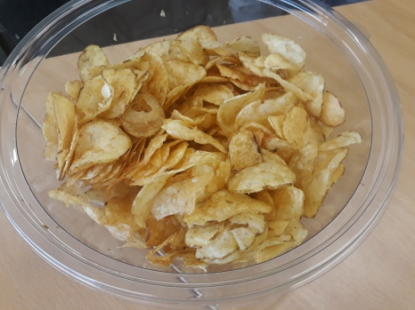 The Crisps of Engagement. It would take too long to explain. My photo, all rights reserved.